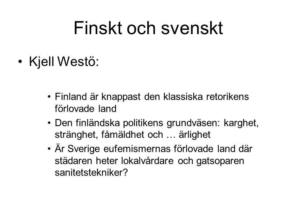Finskt och svenskt Kjell Westö: