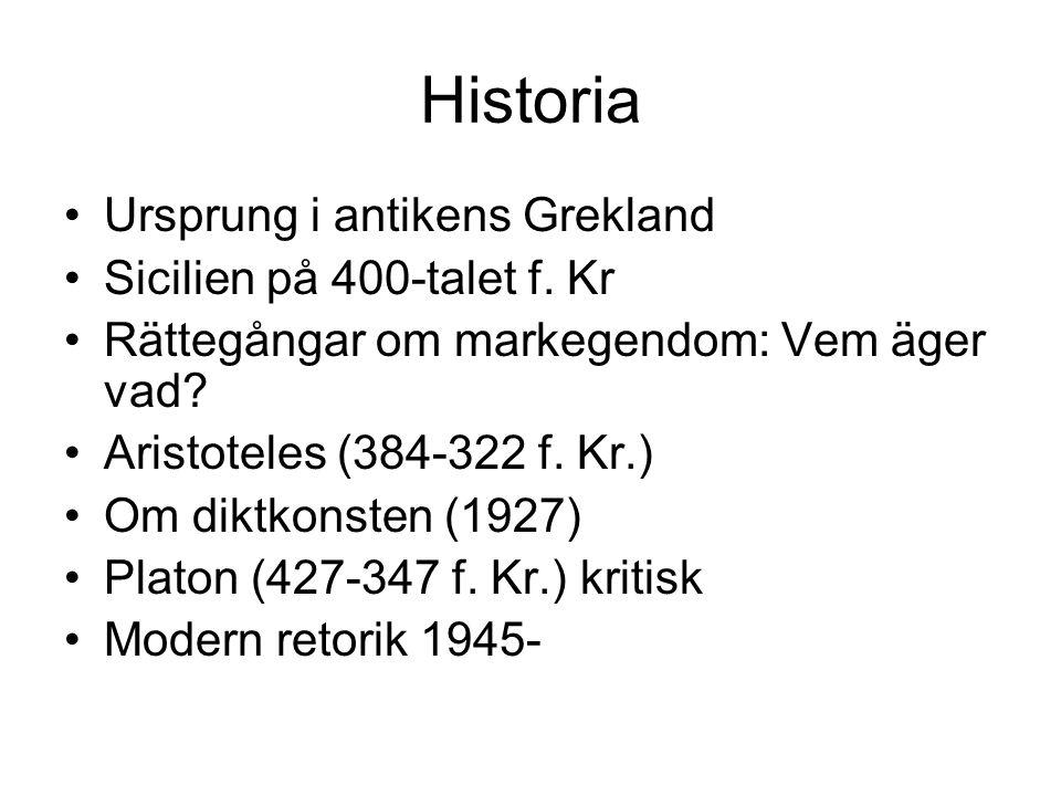 Historia Ursprung i antikens Grekland Sicilien på 400-talet f. Kr