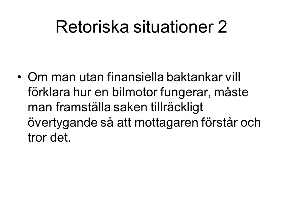 Retoriska situationer 2