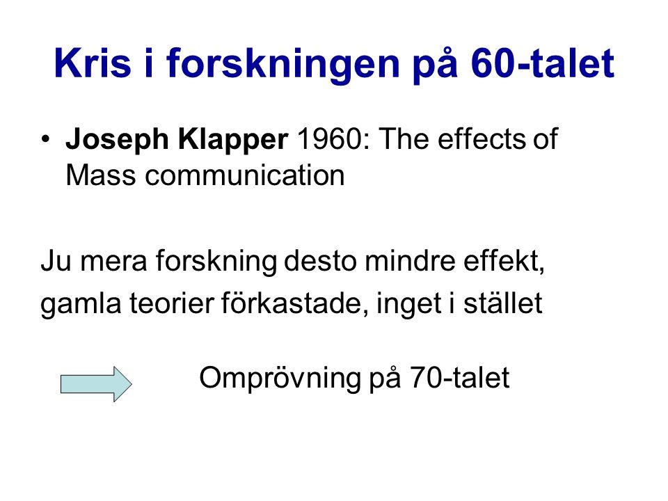 Kris i forskningen på 60-talet