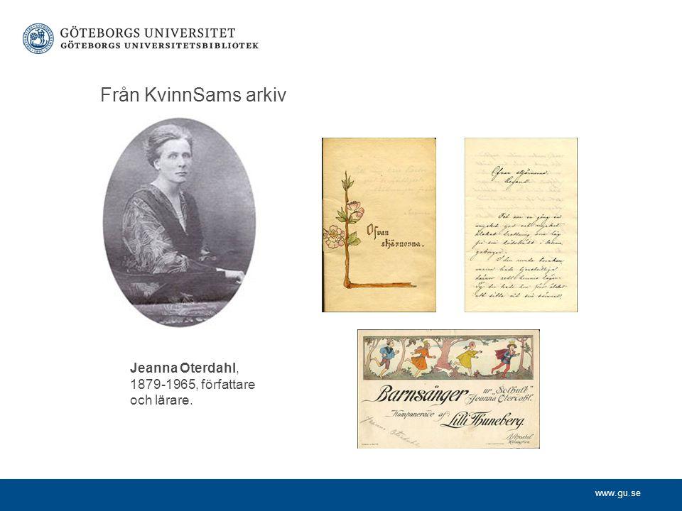 Jeanna Oterdahl, 1879-1965, författare och lärare.