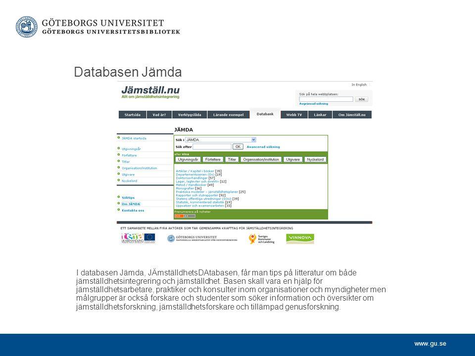 Databasen Jämda