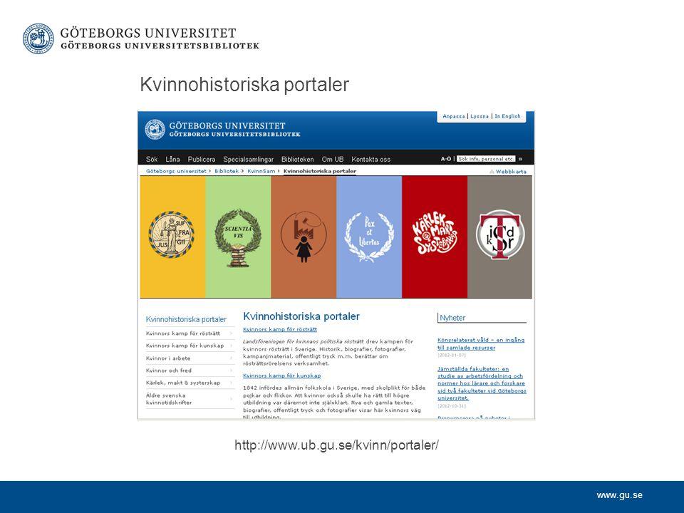 Kvinnohistoriska portaler