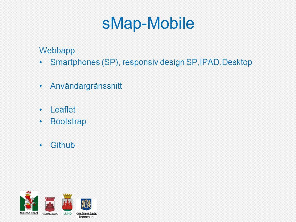 sMap-Mobile Webbapp Smartphones (SP), responsiv design SP,IPAD,Desktop