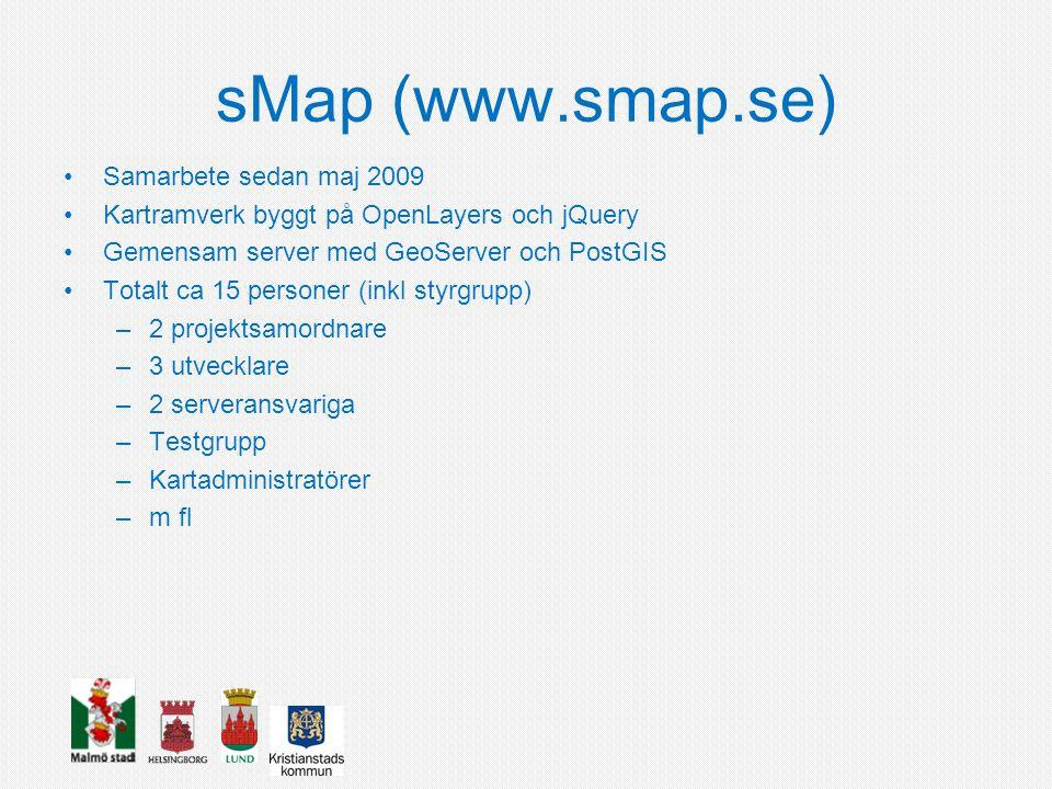 sMap (www.smap.se) Samarbete sedan maj 2009