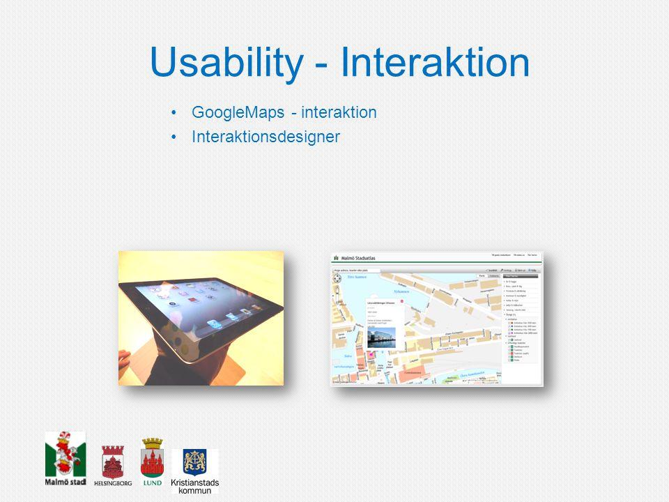 Usability - Interaktion