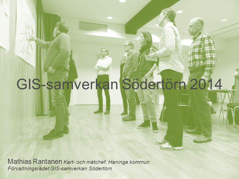 GIS-samverkan Södertörn 2014