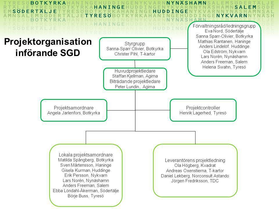 Projektorganisation införande SGD