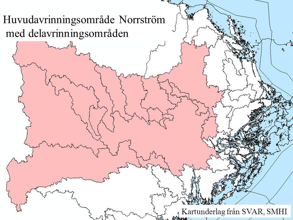 Huvudavrinningsområde Norrström med delavrinningsområden