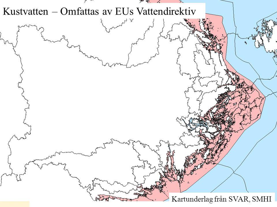 Kustvatten – Omfattas av EUs Vattendirektiv
