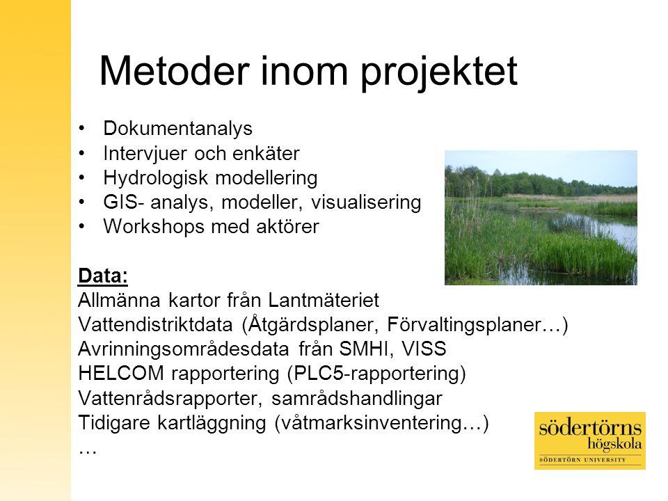 Metoder inom projektet