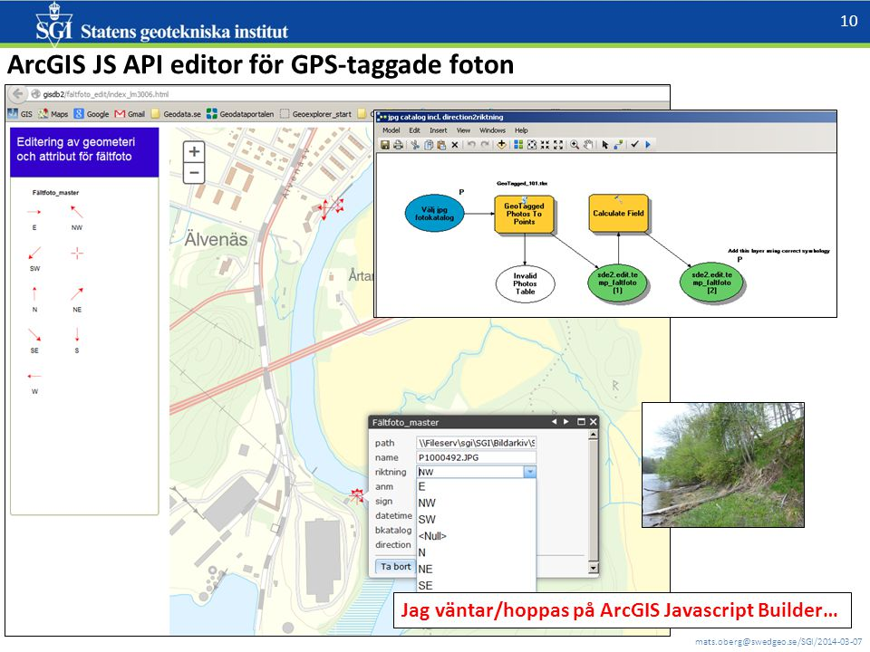 ArcGIS JS API editor för GPS-taggade foton