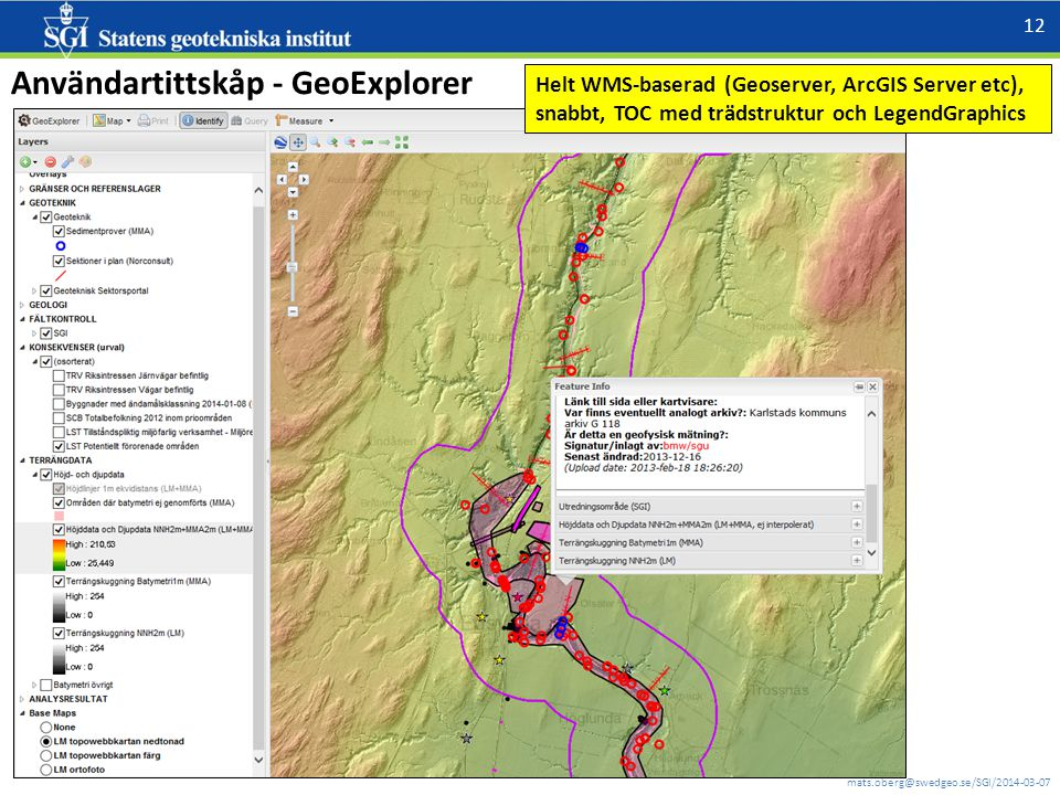 Användartittskåp - GeoExplorer