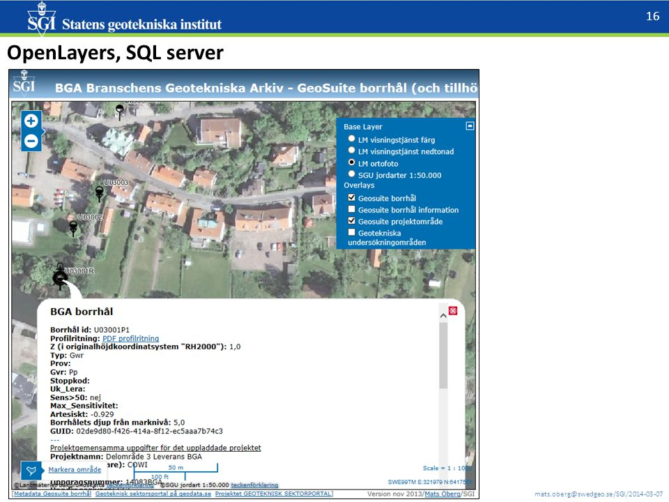 OpenLayers, SQL server
