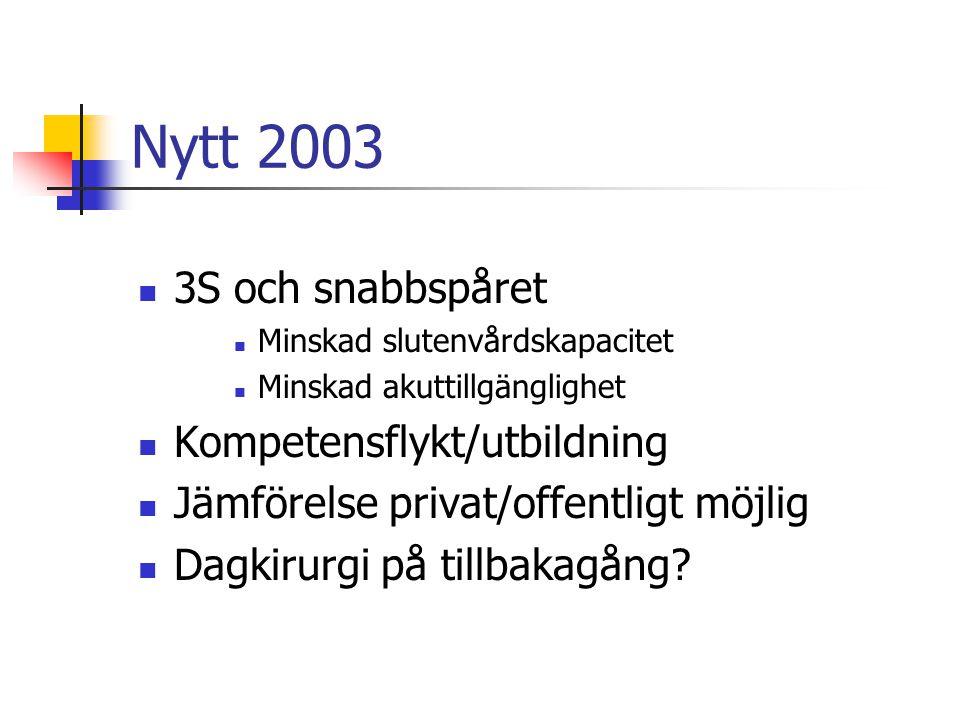 Nytt 2003 3S och snabbspåret Kompetensflykt/utbildning