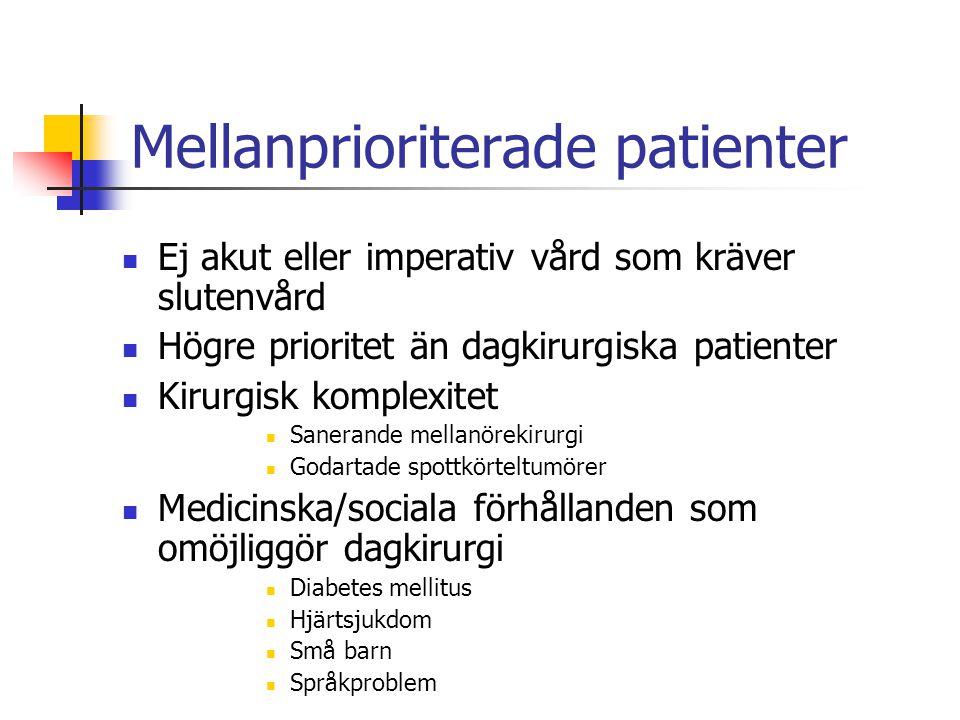 Mellanprioriterade patienter