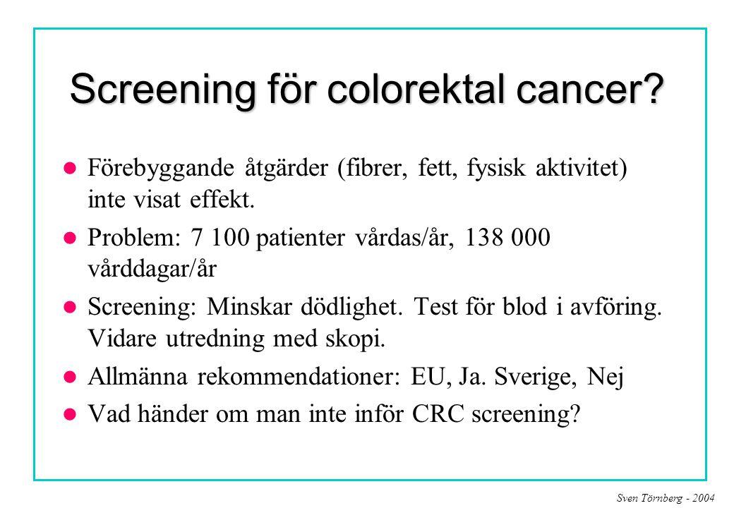 Screening för colorektal cancer