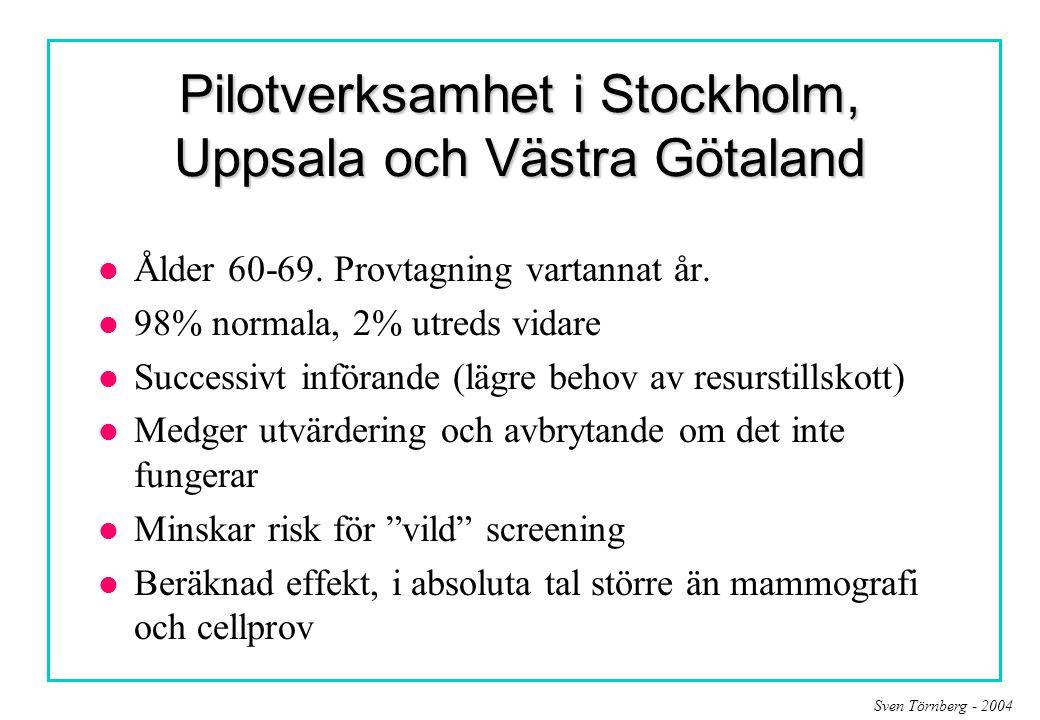 Pilotverksamhet i Stockholm, Uppsala och Västra Götaland
