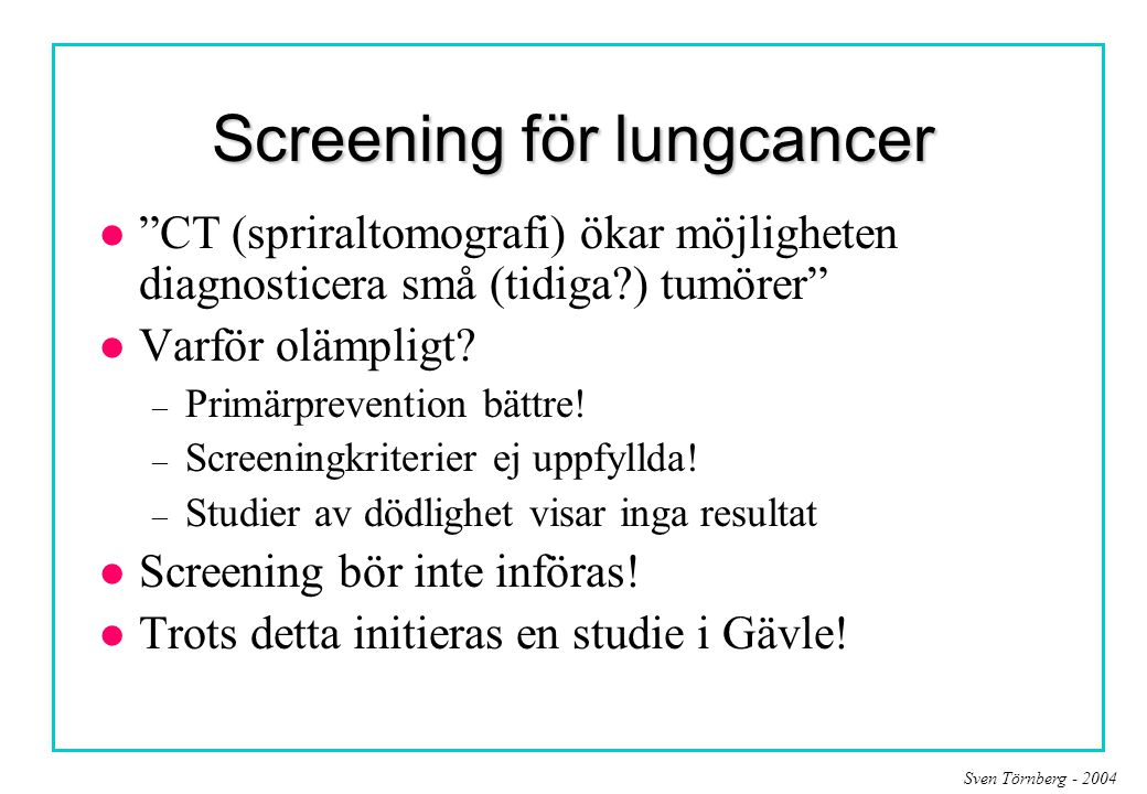 Screening för lungcancer