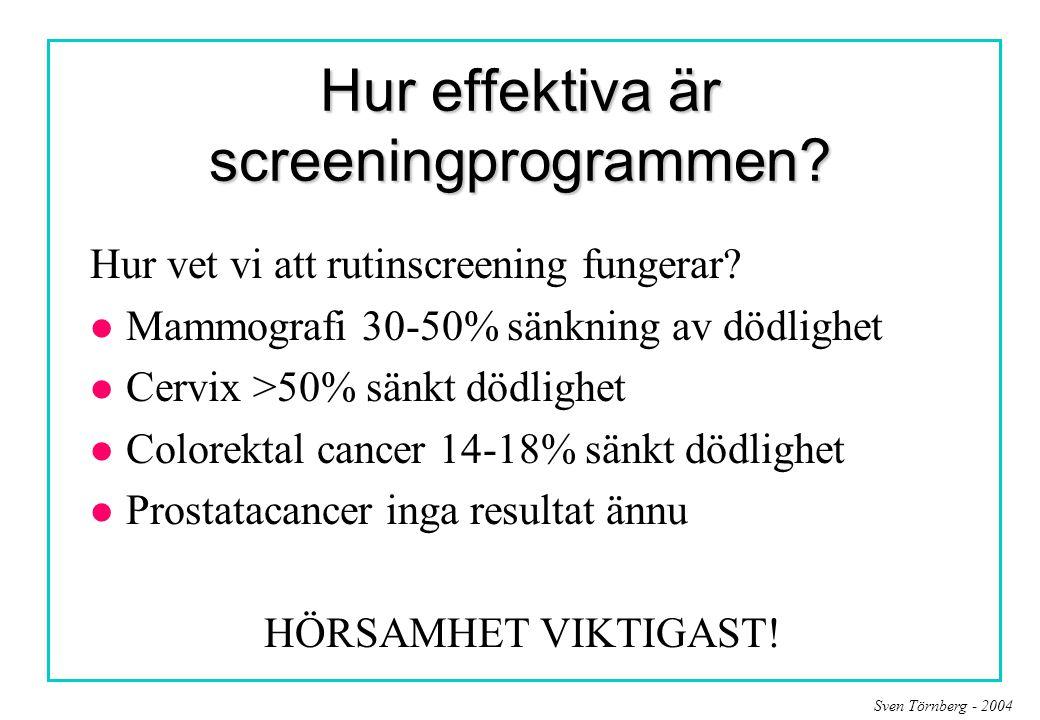 Hur effektiva är screeningprogrammen