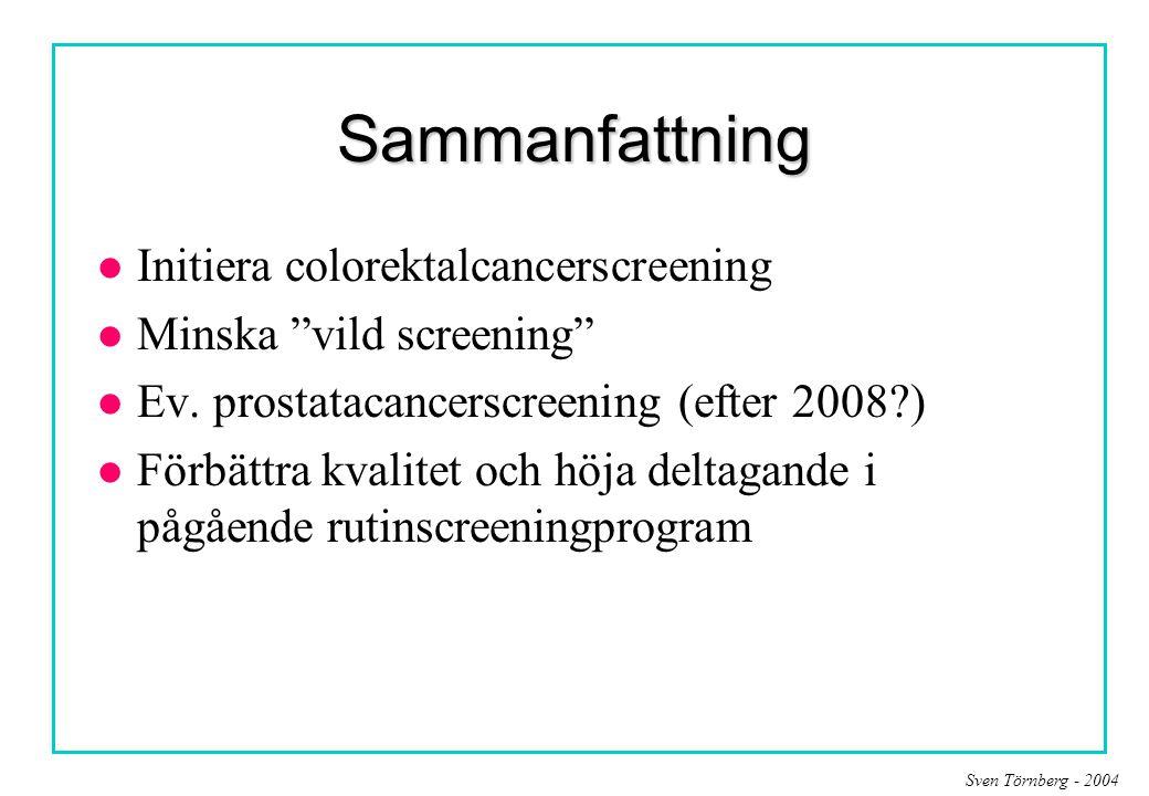 Sammanfattning Initiera colorektalcancerscreening