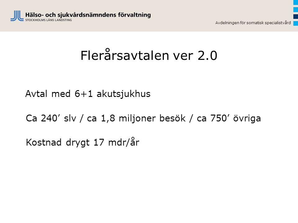 Flerårsavtalen ver 2.0 Avtal med 6+1 akutsjukhus