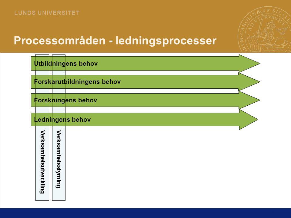 Processområden - ledningsprocesser