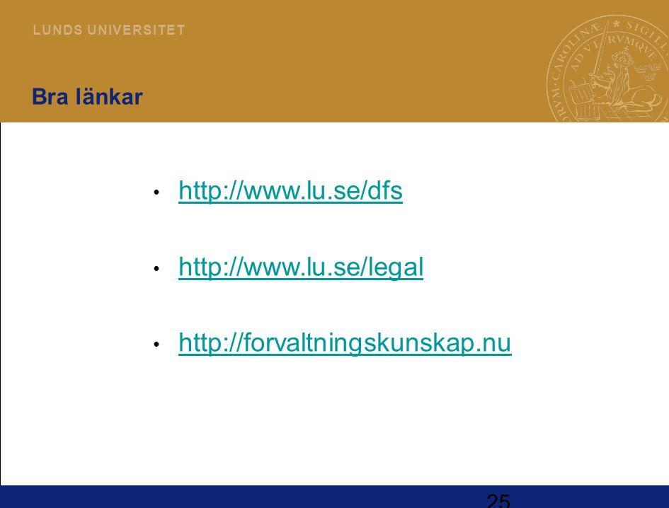 http://www.lu.se/dfs http://www.lu.se/legal