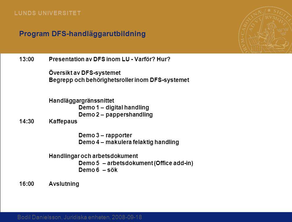 Program DFS-handläggarutbildning