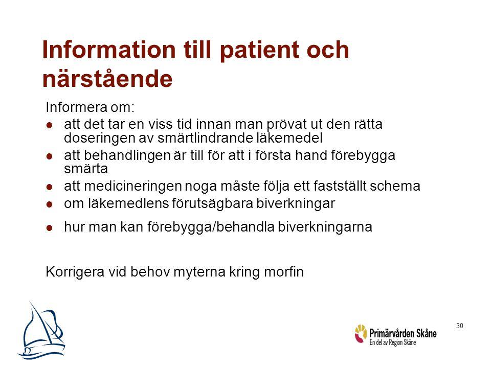 Information till patient och närstående