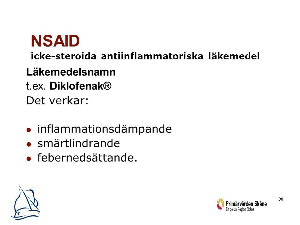 NSAID icke-steroida antiinflammatoriska läkemedel