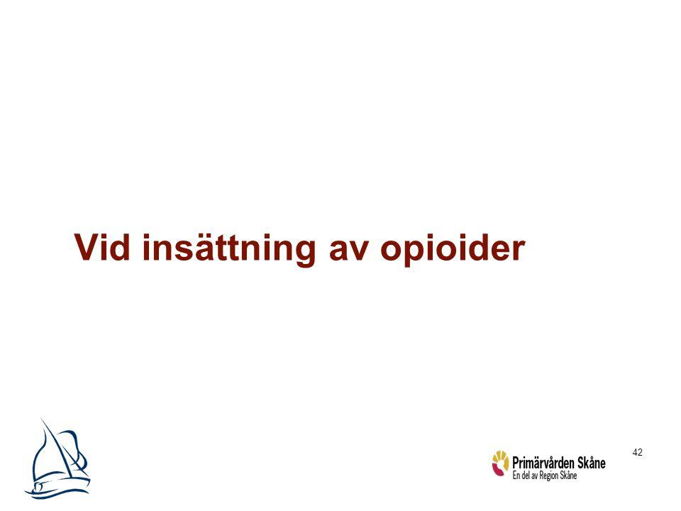 Vid insättning av opioider