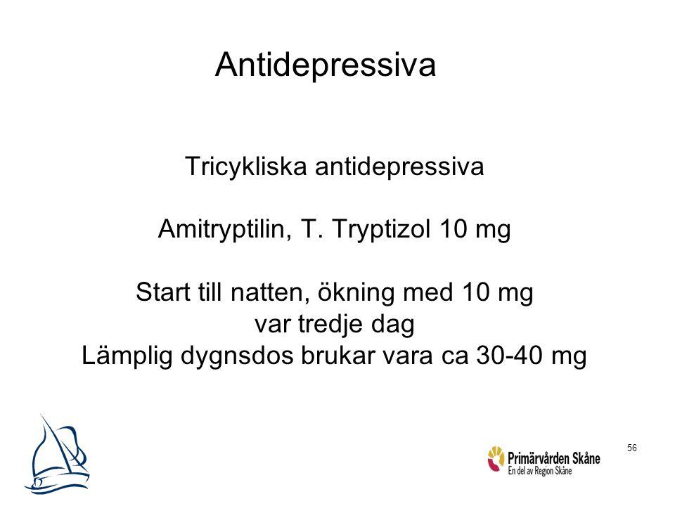 Antidepressiva Tricykliska antidepressiva