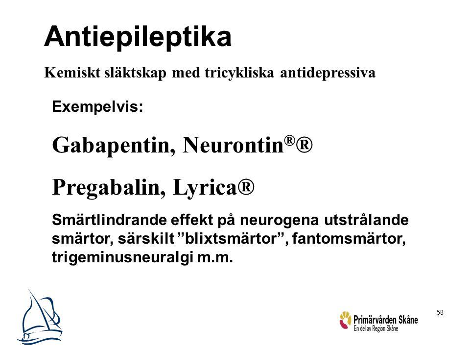 Antiepileptika Gabapentin, Neurontin®® Pregabalin, Lyrica®