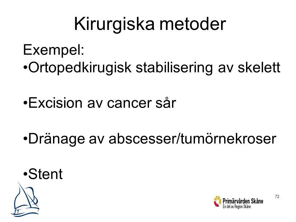 Kirurgiska metoder Exempel: Ortopedkirugisk stabilisering av skelett
