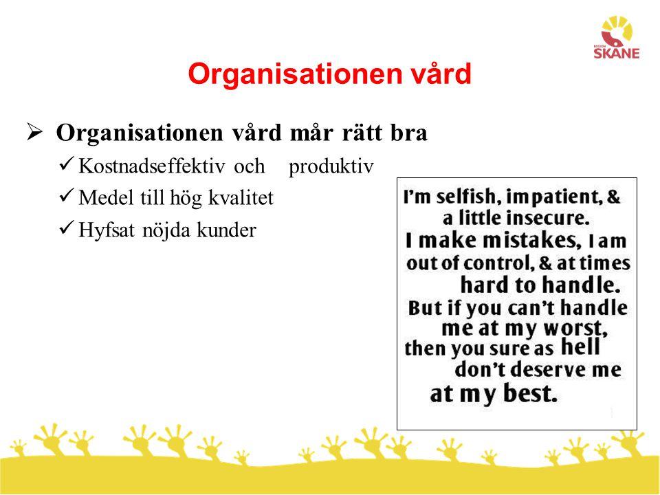 Organisationen vård Organisationen vård mår rätt bra