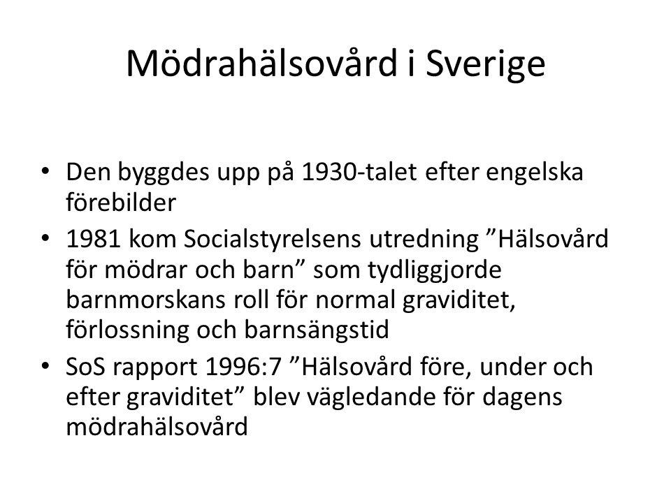 Mödrahälsovård i Sverige