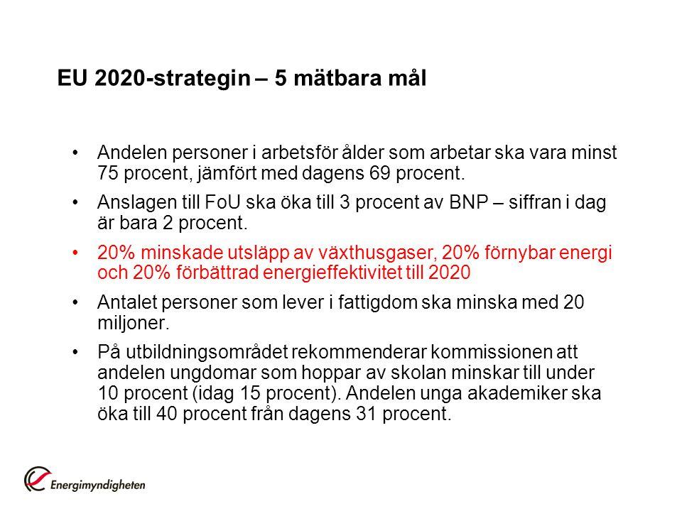 EU 2020-strategin – 5 mätbara mål