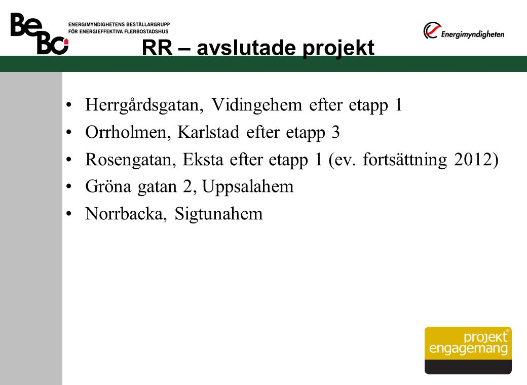 RR – avslutade projekt Herrgårdsgatan, Vidingehem efter etapp 1