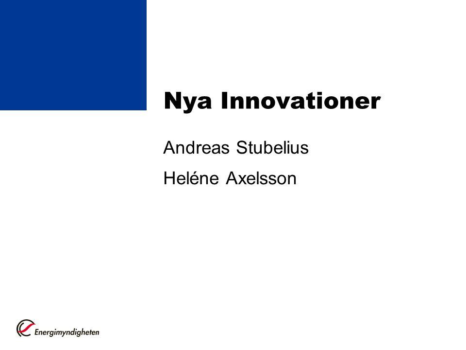 Andreas Stubelius Heléne Axelsson