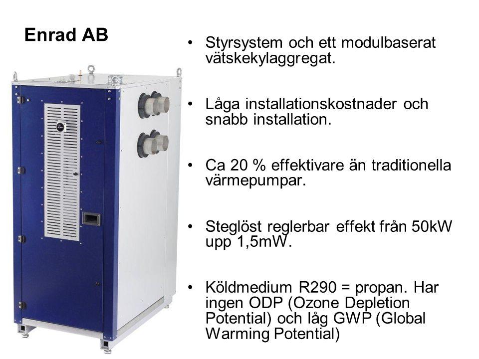 Enrad AB Styrsystem och ett modulbaserat vätskekylaggregat.