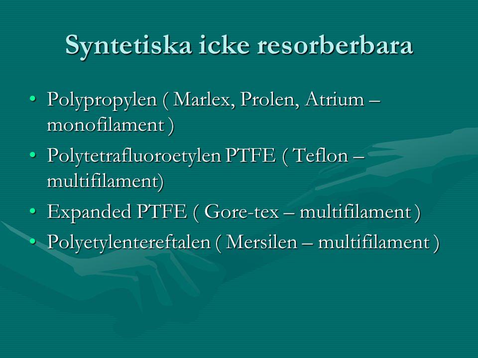 Syntetiska icke resorberbara