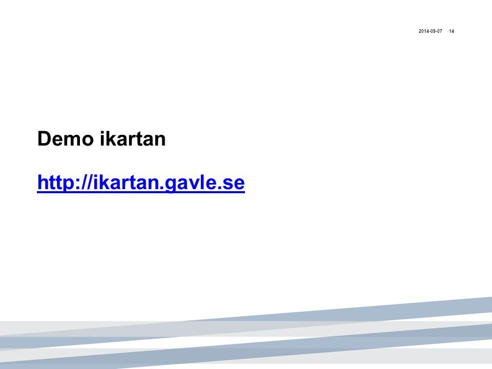 Demo ikartan http://ikartan.gavle.se