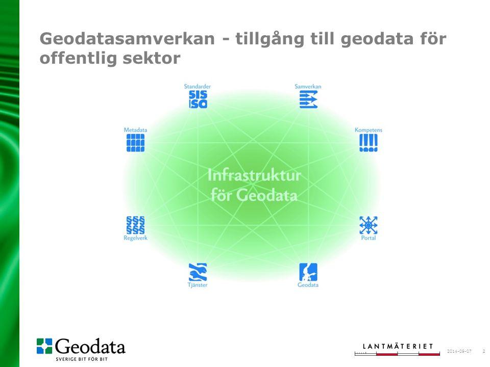 Geodatasamverkan - tillgång till geodata för offentlig sektor