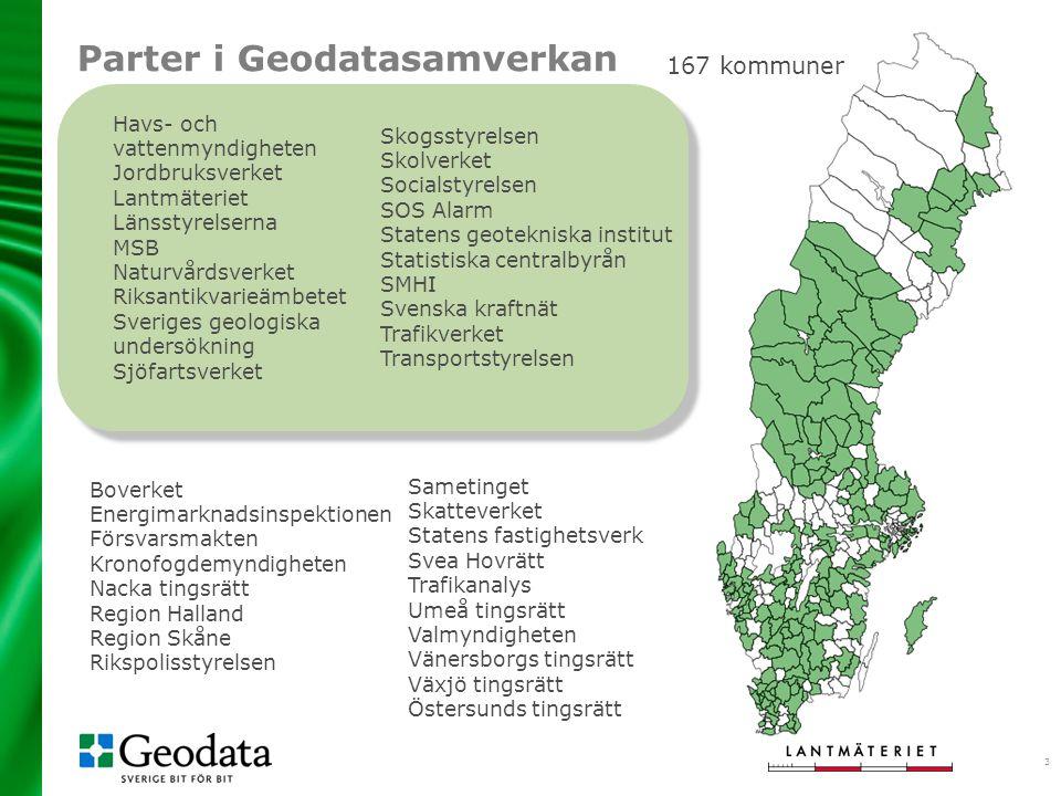 Parter i Geodatasamverkan
