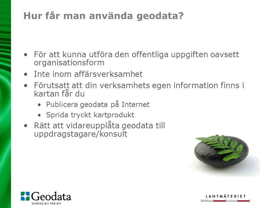 Hur får man använda geodata