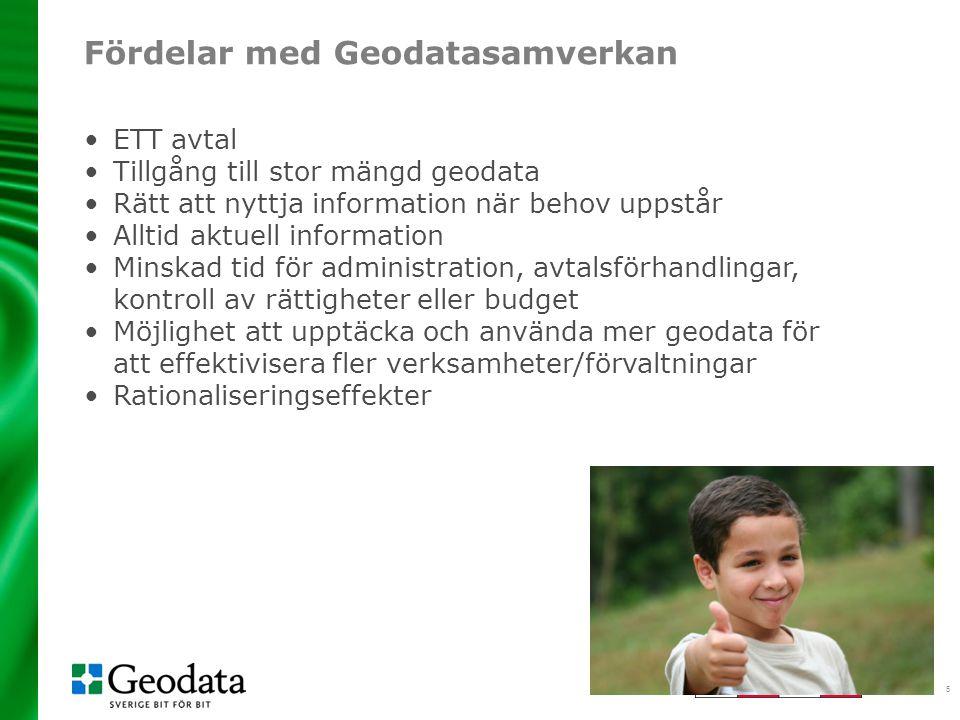 Fördelar med Geodatasamverkan