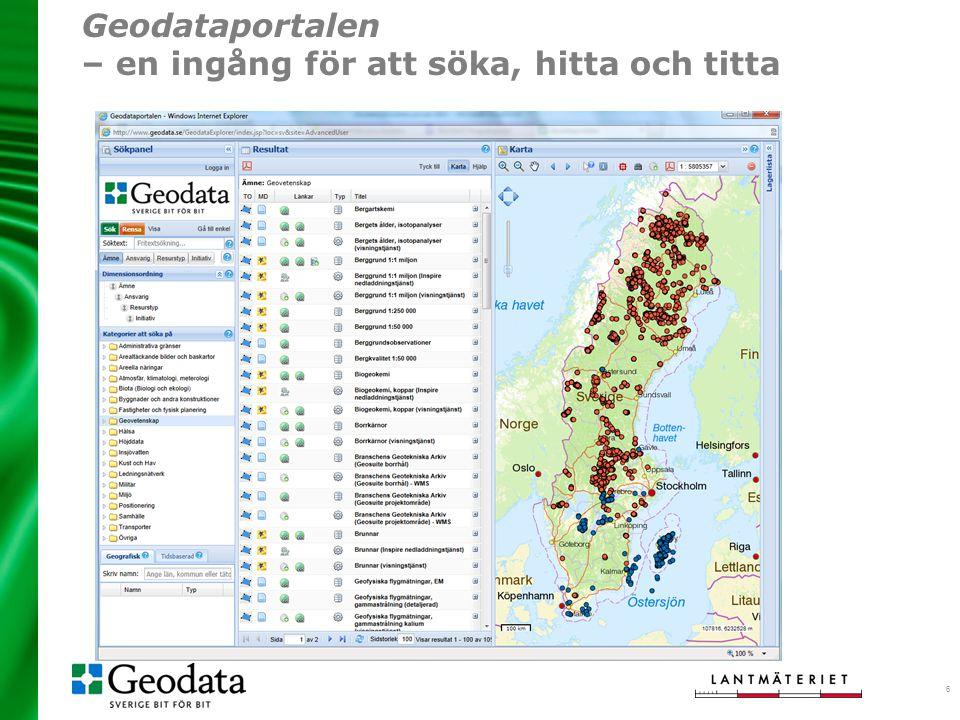 Geodataportalen – en ingång för att söka, hitta och titta