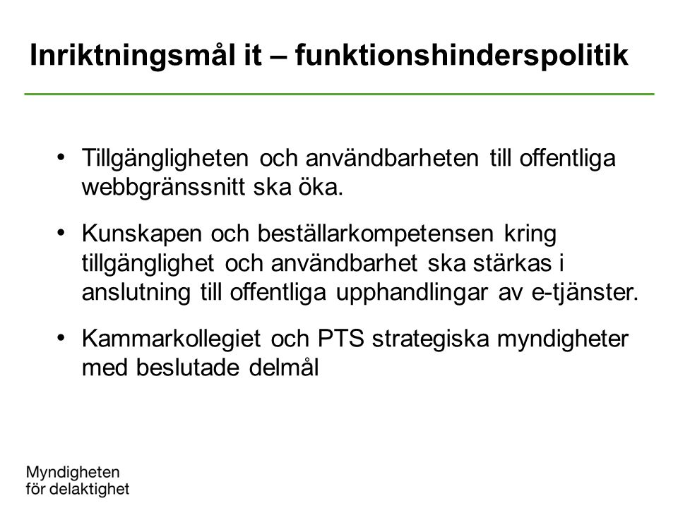 Inriktningsmål it – funktionshinderspolitik