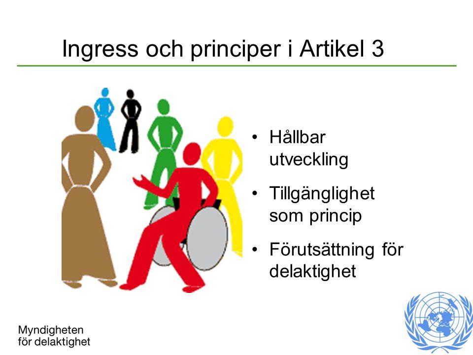 Ingress och principer i Artikel 3